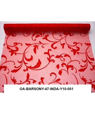 organza s potlačou 47 cm červená