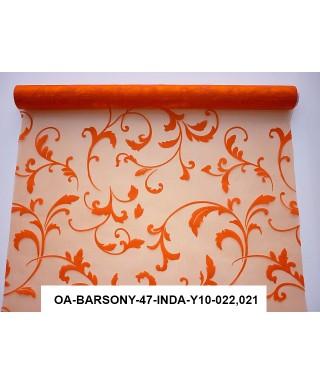 organza s potlačou 47 cm oranžová