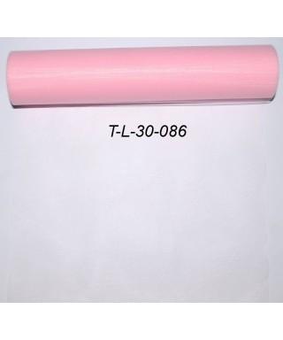 Tyl 30 cm ružový