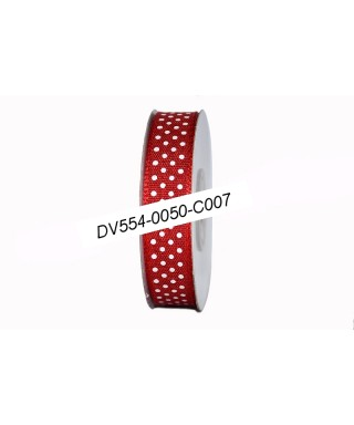 textilná stuha 1,6 cm červená