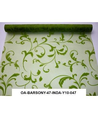 organza s potlačou 47 cm zelená
