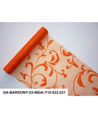 organza s potlačou 23,5 cm oranžová
