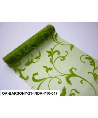 organza s potlačou 23,5 cm zelená