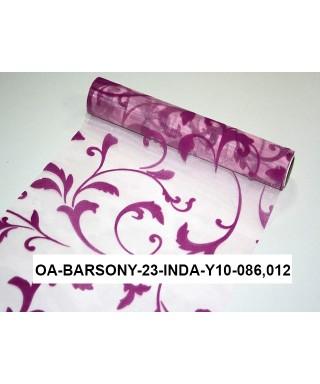 organza s potlačou 23,5 cm ružovocyklámenová