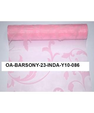 organza s potlačou 23,5 cm ružová