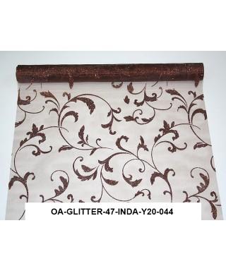 organza glitrová 47 cm čokoládovohnedá