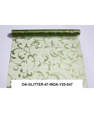 organza glitrová 47 cm zelená