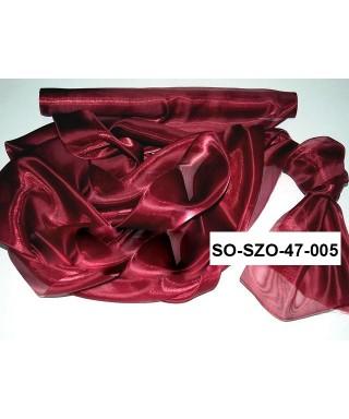 saténová organza 47 cm červená