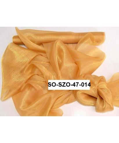 saténová organza 47 cm zlatá