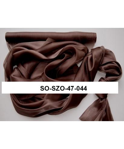 saténová organza 47 cm čokoládovohnedá