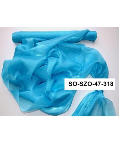 saténová organza 47 cm azúrovomodrá