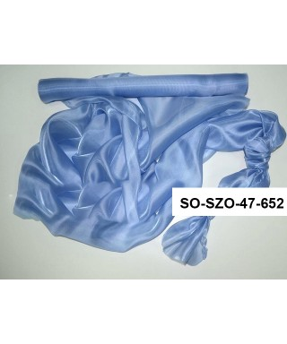 saténová organza 47 cm vintage modrá