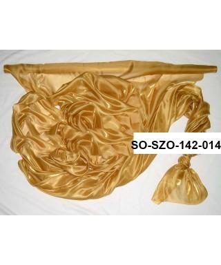 saténová organza 142 cm zlatá