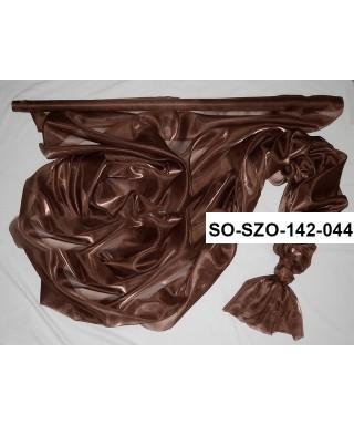 saténová organza 142 cm čokoládovohnedá