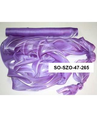 saténová organza 47 cm fialová milka