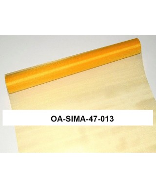 organza lesklá 47 cm tmavá žltá