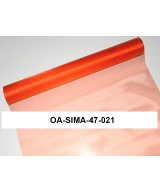 organza lesklá 47 cm oranž