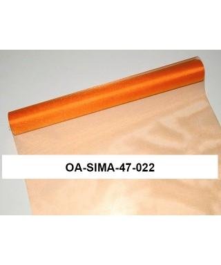 organza lesklá 47 cm pomaranč