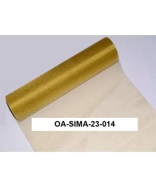 organza lesklá 23,5 cm zlatá