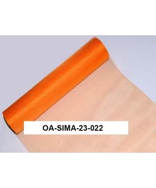 organza lesklá 23,5 cm pomarančová