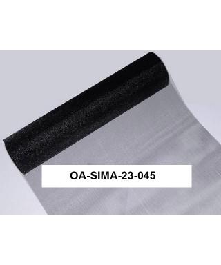 organza lesklá 23,5 cm čierna