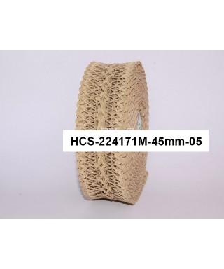čipková stuha 4,5 cm kapučíno