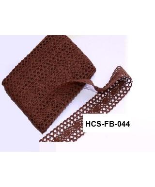 čipková stuha 4 cm čokoládovohnedá