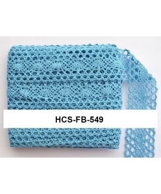 čipková stuha 4 cm modrá FB
