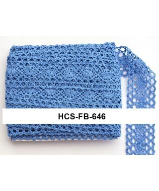 čipková stuha 4 cm vintage modrá FB