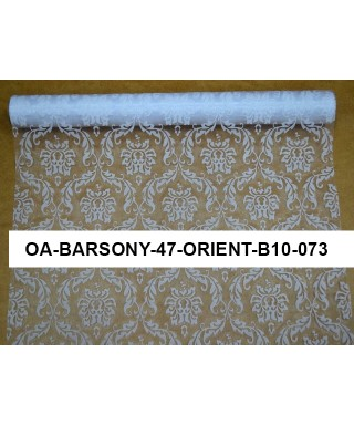 organza orient 47 cm biela